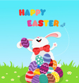 Bunny Celebrating Easter vector image vector image