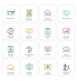 Business Money Icons Set Flat Design vector image vector image