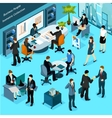 Business People Isometric Collection vector image vector image