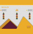 business presentation template from infographic vector image vector image