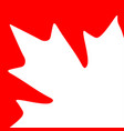 card maple leaf vector image