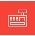 Cash register machine line icon vector image vector image