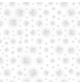 christmas background with white paper snowflakes vector image vector image