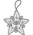christmas decoration for christmas tree - star vector image