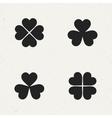 clover icon set vector image