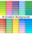 Colorful line gradient background pack vector image vector image