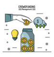 crowfunding management infographic vector image vector image