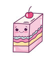 cute food slice jelly with fruit sweet dessert vector image vector image