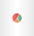 diagram pie symbol design vector image vector image