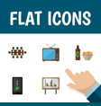 flat icon lifestyle set of cellphone boardroom vector image vector image