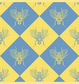 fly blue and yellow seamless pattern vector image vector image
