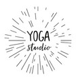 for an yoga studio vector image