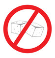 forbidden sugar sign vector image