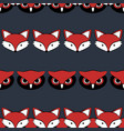 fow and owl cute animal seamless pattern vector image