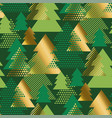 geometric christmas tree luxury seamless pattern vector image vector image