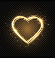 glitter gold heart frame with space for text vector image vector image