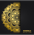 golden mandala design ethnic round ornament hand vector image vector image
