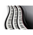 grand piano keys vector image vector image