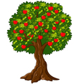 Green Apple tree full of red apples isolated vector image vector image