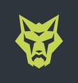 green fox abstract sign vector image vector image