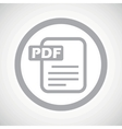 Grey PDF file sign icon vector image vector image