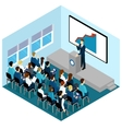 isometric training lectures composition vector image vector image