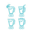 juice blender icon bundle vector image