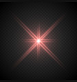 lense flare light effect vector image vector image
