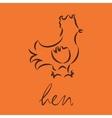 logo of hen vector image vector image
