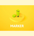 marker isometric icon isolated on color vector image vector image