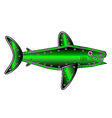 Mechanical fish shark on white vector image vector image
