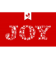Merry Christmas joy concept icons vector image