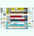 modern kitchen interior infographic template vector image vector image