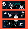 modern space exploration - set modern banners vector image vector image
