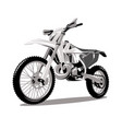 motorcycle cross jumping graphic vector image vector image