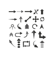 objects arrows set vector image vector image