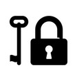 padlock with key vector image vector image