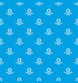 pirate barrel pattern seamless blue vector image vector image