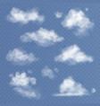 realistic cloud white clouds fluffy sky fog vector image