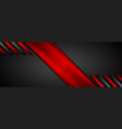 red black abstract corporate glossy background vector image vector image