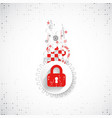 red protection background technology security vector image