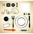Restaurant Menu Design Elements vector image