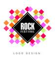 rock festival logo creative banner poster flyer vector image vector image