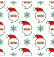 Santa Claus head seamless pattern vector image