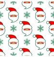 Santa Claus head seamless pattern vector image vector image