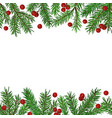 seamless background with realistic green fir tree vector image vector image