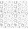 seamless pattern with grey stars on white vector image vector image
