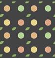 seamless pattern with orange lemon grapefruit vector image vector image
