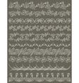 Set of Lace Paper with flower vector image vector image