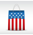 Shopping bag with USA flag vector image
